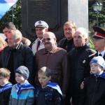 Председатель ДОСААФ Кирьяненко В.П. с участниками автопробега